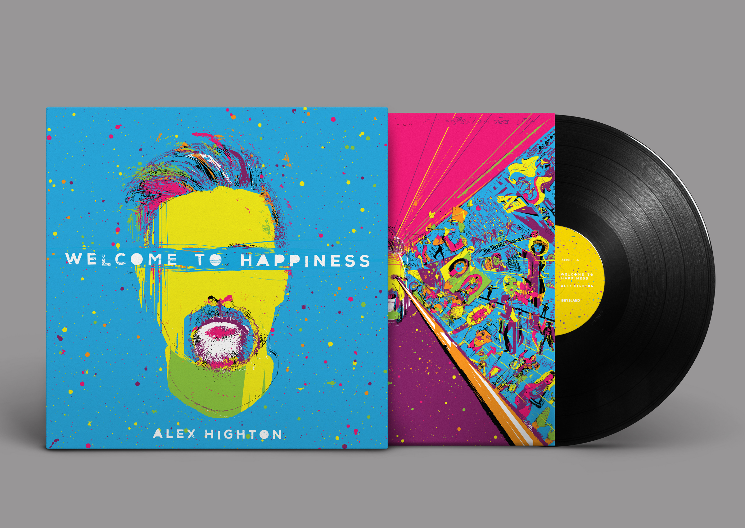 """""""Welcome To Happiness"""" out now on vinyl, cd, download & all streaming sites!"""
